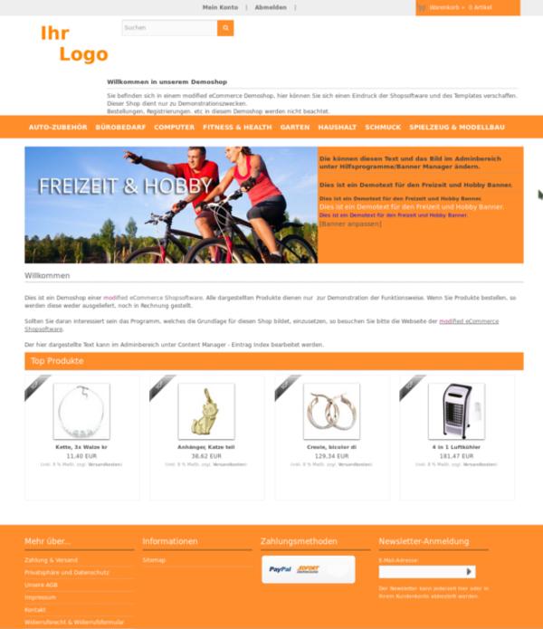 Webdesign, Webshop, Demoshop